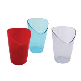Bicchiere portapenne in plastica grigio