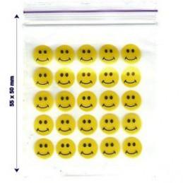 Buste zip con emoticon smile
