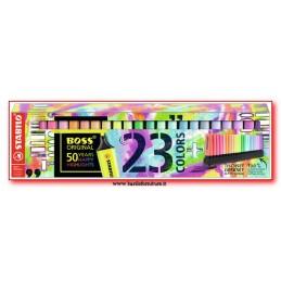 Evidenziatori Stabilo Boss 23 colori assortiti