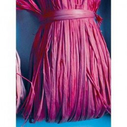 Matassina di Rafia naturale rosa fuxia gr50