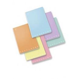 Maxi quaderno monocromo 1 rigo pastel 25fg