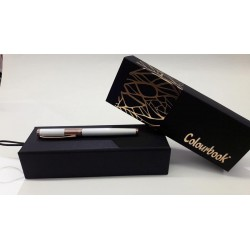 Penna colourbook roller Montale biano/rosa