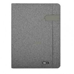 Portablocco A4 tessuto grigio