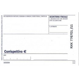Scontrini Fiscali mini 100fgx2 copie mis.7,4x12