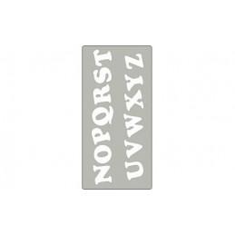 Fustella acciaio alta alfabeto x Fustellatrice f.to A4