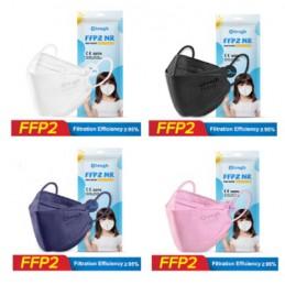 Mascherina FFP2 x bambini rosa 10pz Certificate CE