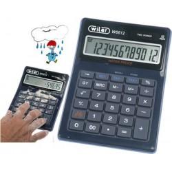 Calcolatrice da tavolo Wiler w6612 12 cif. doppia alimentaz.IMPERMEABILE